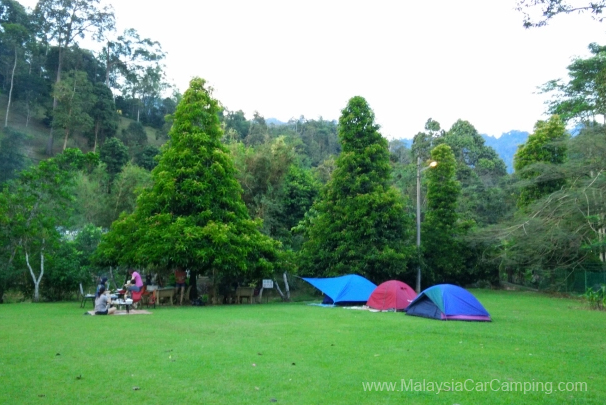 big camping ground near the riverside