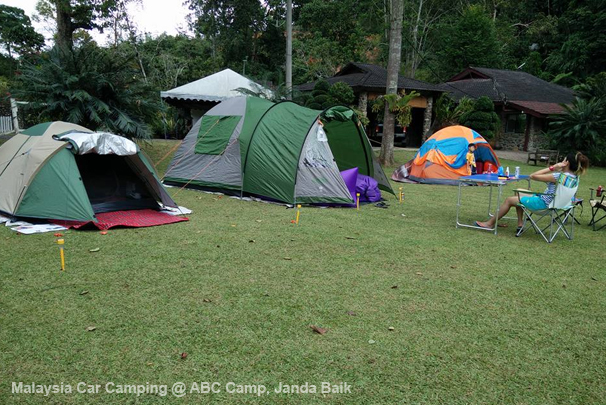 this campsite have a very big compound area to set up multiple tents.
