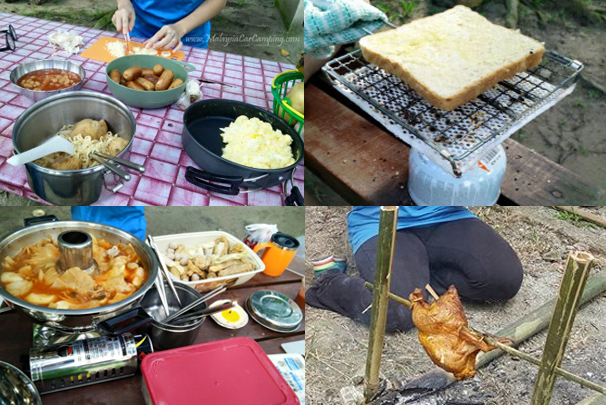 BBQ whole chicken, toast bread, cooking, steamboat...anything just doing here
