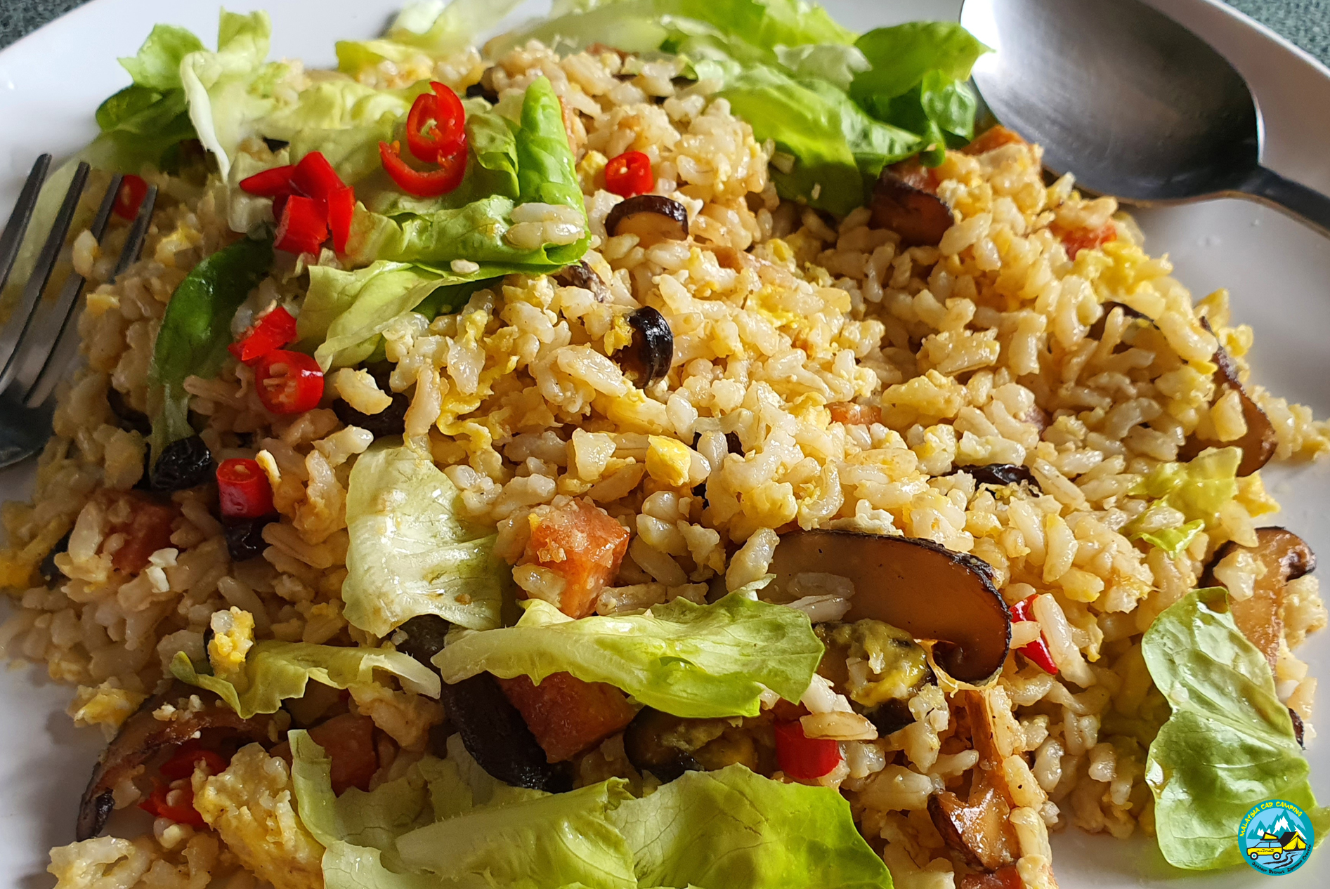 delicious outdoor fried rice